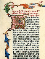Page from Gutenberg's Bible, c. 1455.