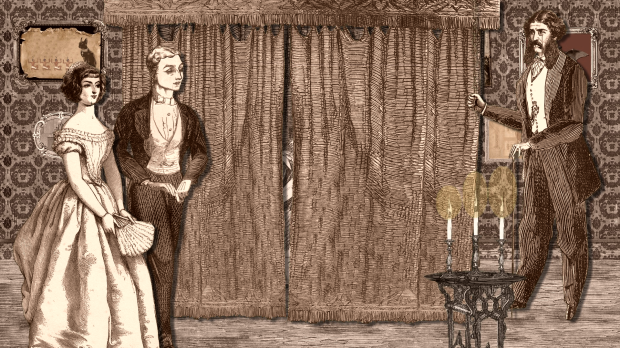 Victorian Cut-Out Theatre, 19: Still from 'A Peculiar Soiree'
