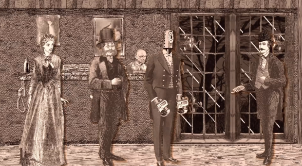 Victorian Cut-Out Theatre, 11: Still from 'A Touch of Murder'