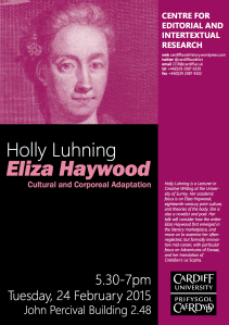 an analysis of eliza haywoods 1719 novel love in excess Eliza haywood was a prolific 18th century writer  the first of mrs hayword's  novels, love in excess, was published in 1719 in installments.