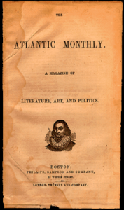 The Atlantic Monthly was founded in 1857 as a literary and cultural commentary magazine.